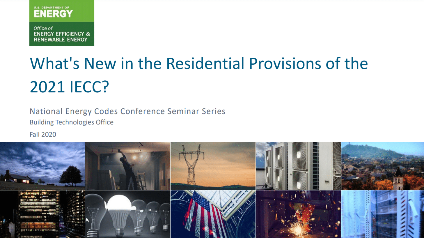 Updated IECC Residential Energy Guidelines Released